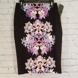 Mossimo☆Black Floral Pencil Skirt